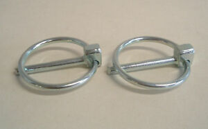 4.5mm Linch/Lynch Pin x2, Excavator, Tractor 35mm Ring.