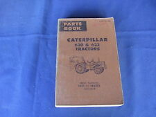 CAT CATERPILLAR 630 632 TRACTOR PARTS BOOK MANUAL S/N 14G1-532