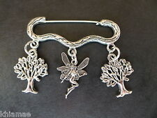 """""""Forest Fairy"""" Cloak Brooch pagan silver wiccan jewellery woods magic pin"""
