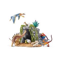 Schleich 42261 Dinosaur Set With Cave (Dinosaurs) Plastic Figure