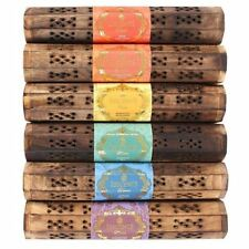 Esscents Jazmín Té de incienso en caja de madera almacenamiento Conjunto de Regalo