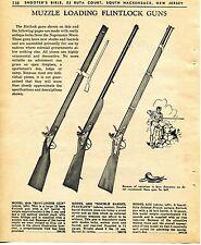 1965 Print Ad of Muzzle Loading Flintlock Gun Model 4910 Buccaneer 5033 & 6475
