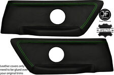 GREEN STITCHING 2X REAR DOOR CARD COVERS FITS BMW E36 CONVERTIBLE 93-98 STYLE 2