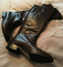 M&S Marks & Spencer Autograph Brown Pull On Leather Boots UK 4.5 EUR 37.5 £79