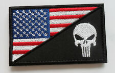 PUNISHER SKULL TACTICAL USA FLAG  MILITARY 3.0 INCH   PATCH 1PCS