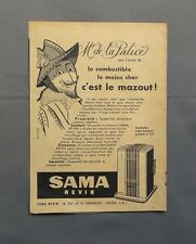 PUB PUBLICITE ANCIENNE ADVERT CLIPPING 110517 / SAMA REVIN POELE AU MAZOUT