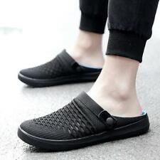 Mens Summer Slip On Slippers Mesh Breathable Flats Mules Loafers Casual Shoes