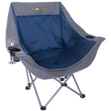 OZTRAIL MOON CHAIR ( SINGLE ) 120KG LIMIT PICNIC CAMP OUTDOOR SEAT PORTABLE