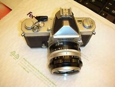 Nikon Nikkomat FTN 35mm SLR Film Camera Body with Lens