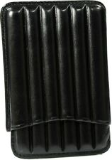 MARTIN WESS BLACK COWHIDE/ GOATSKIN LEATHER 6 CIGARILLO CASE * NEW *