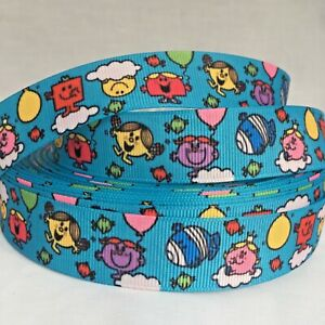 YARD MR MEN LITTLE MISS HAPPY CHATTERBOX BUMP RIBBON CHARACTER