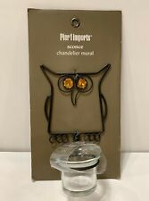 Owl Votive Tea Light Candle Holder Pier 1 International Metal Wall Sconce
