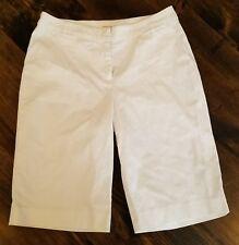 Anne Klein white bermuda shorts size 6 petite