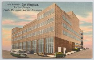 OR Oregon Portland New Home of The Oregonian 1954 Linen Vintage Postcard $A