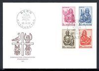 Schweiz MiNr. 738-41 Ersttagsbriefe/ FDC Evangelisten (Q11906