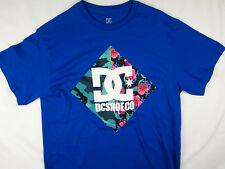DC Shoes USA Skate Camo short sleeve t shirt men's blue size XL