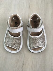 Old Soles Glam Bub Girls Leather Sandals Size 19 Will Fit Approx 9-12months