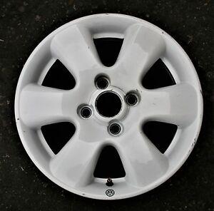 VW Lupo Alloy Wheel GTI White 6 Spoke 6JX14 4X100 6X0 601 025 D EB#468