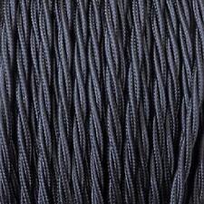 Elektrokabel Zopf Stoff Verschiedene Farben Vintage Schmuck Nero/black 50m 3x0 75mm