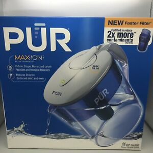 New PUR Classic 11 Cup Water Filter Pitcher CR1100C Filter Included