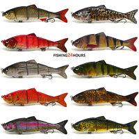 "4"" Multi Jointed Fishing Lure Bait Bass Crank Minnow Swimbait Life Like Pike NEW"