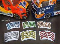 1/10 RC TAMIYA TT01 MAN TGS / Buggyra Fat Fox Tyre Sidewall Stickers Decals Tire