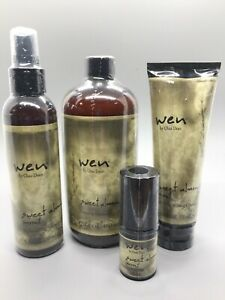 WEN by Chaz Dean Sweet Almond Mint 4 Pc. Hair Product Set Factory Sealed