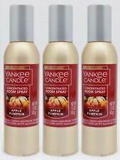 3 Yankee Candle APPLE PUMPKIN Concentrated Mini Room Spray Home Perfume 1.5 oz