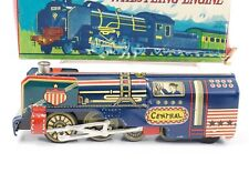 """Whistling Steam Engine """"Central"""" ALPS Japan Tin Friction 7"""" w/ Original Box"""