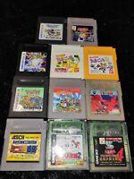 ⭐ Lot Wario Land Tetris 10 Jeux Nintendo Game Boy GB Japan Jap Ntsc-J 🎌⭐