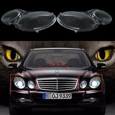 Pair Headlight Lenses Headlamp Cover For MERCEDES E CLASS W211 E320 E350 2006-08