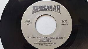 SENSACION - Paloma / El Fraca So De el Alambaista PRIVATE '82 Latin Ranchera