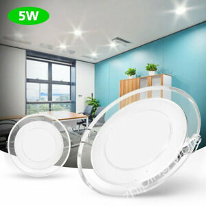 4 Pack 5W Round LED Recessed Ceiling Light Panel Downlights Spot Lamp ZE