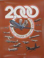 McDonnell Douglas Commemorative Poster 2000th Jet Transport Delivery 1982