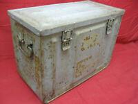 Vintage WWII Ammunition Metal Box Large Working Latches Heavy Duty Steel MK3 #2