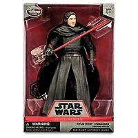 Star Wars KYLO REN UNMASKED ELITE SERIES Disney Store Die Cast Action Figure NIB