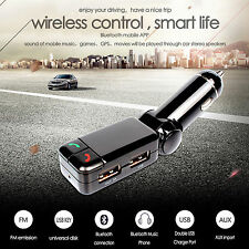 Bluetooth Car Kit FM Transmitter MP3 player USB ChargerHandsfree For iPhone