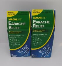 MagniLife Homeopathic Earache Relief 90 Tablets Each Tinnitus X2 LOT New Sealed