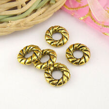 10Pcs Antique Gold Spacer Beads 10.5mm A5185