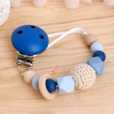 Baby Silicone Dummy Teething Pacifier Clip Bead Chain Infant Soother Nipple