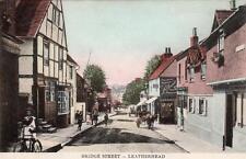 Bridge Street Leatherhead old pc used 1905 J Wells