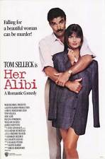 HER ALIBI Movie POSTER 27x40 Tom Selleck Paulina Porizkova William Daniels James
