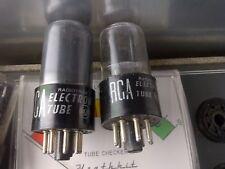 (TWO) STRONG! RCA 6SN7GT / GTB Vacuum Tube #123