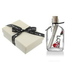 Romantic Personalised Message in a Bottle Gift for Him Her | Gift Boxed