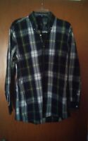 016 Men's Jos A Bank Travelers Collection Plaid Long Sleeve Button Front Shirt