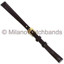 9mm Speidel Stitched Calfskin Brown Genuine Leather Ladies Watch Band 166 930