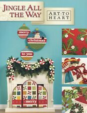 JINGLE ALL THE WAY Nancy Halvorsen Applique NEW BOOK Christmas Decorations Home
