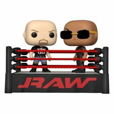 FIGURINE FUNKO WWE pack 2 POP Moment! The Rock vs Stone Cold Raw Ring neuf