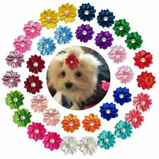 50pcs Dog Hair Bows Bright Fashion Pearls Accessories Pet Grooming Supplies