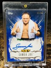 "2016 Wwe/Undisputed ~ SAMOA JOE (#23/25) ""BLUE"" ON CARD AUTO!!!! RARE!!!"